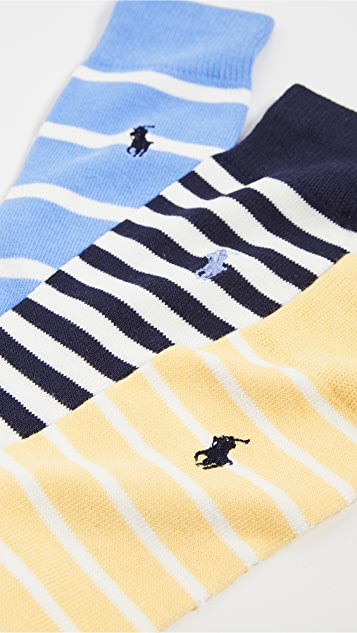Polo Ralph Lauren Pastel Stripes Socks 3 Pack