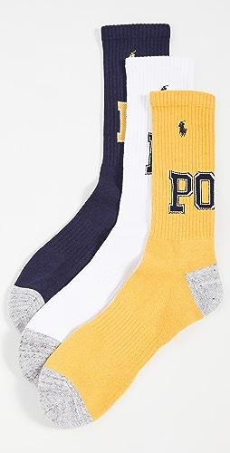 Polo Ralph Lauren - POLO Varsity Crew Socks 3 Pack