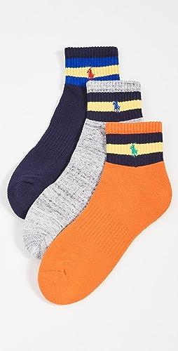 Polo Ralph Lauren - Striped Quarter Socks 3 Pack
