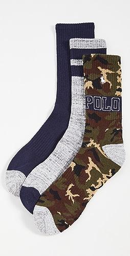 Polo Ralph Lauren - Camo Crew Socks 3 Pack