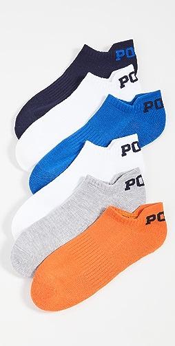 Polo Ralph Lauren - POLO Logo Low Cut Socks 6 Pack