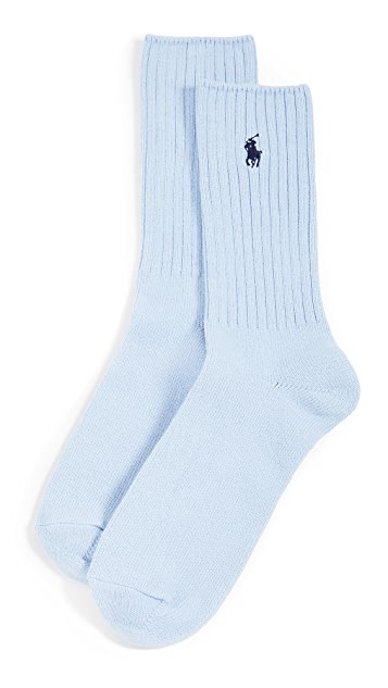 Polo Ralph Lauren Solid Cotton Rib Socks