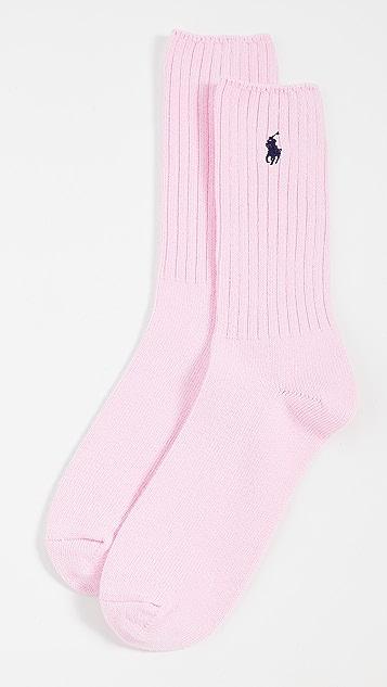 Polo Ralph Lauren Solid Cotton Rib Socks
