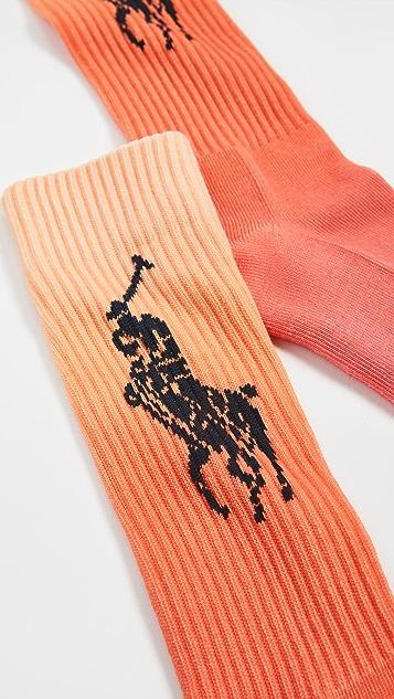 Polo Ralph Lauren Dip Dye Crew Socks