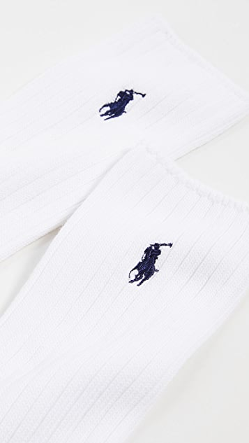 Polo Ralph Lauren Cotton Crew Socks With Polo Player Embroidery