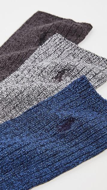Polo Ralph Lauren Supersoft Ragg Crew Sock 3 Pack