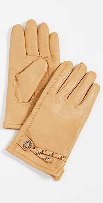 Polo Ralph Lauren Knit Lined Full Grain Leather Gloves