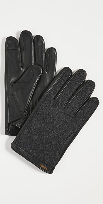 Polo Ralph Lauren Wool and Leather Hybrid Gloves