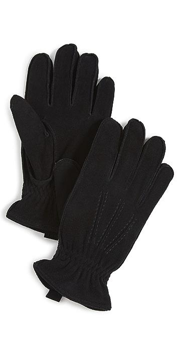 Polo Ralph Lauren Water Repellent Deer Suede Gloves