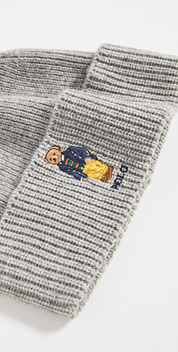 Polo Ralph Lauren Solid Preppy Bear Beanie