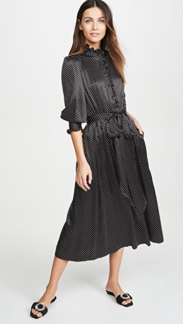 Runway Marc Jacobs Dress With Ruffle At Collar & Cuffs
