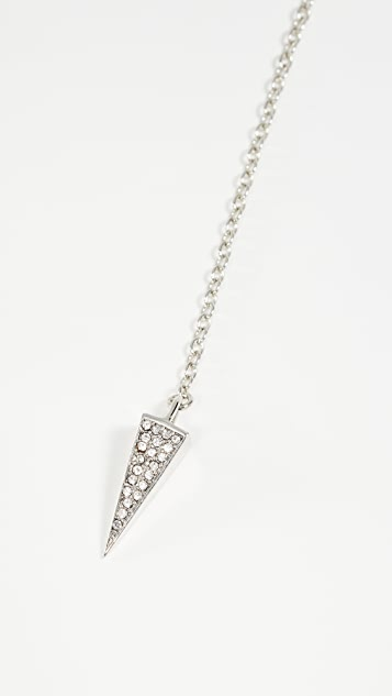 Rebecca Minkoff Crystal Cone Y Necklace