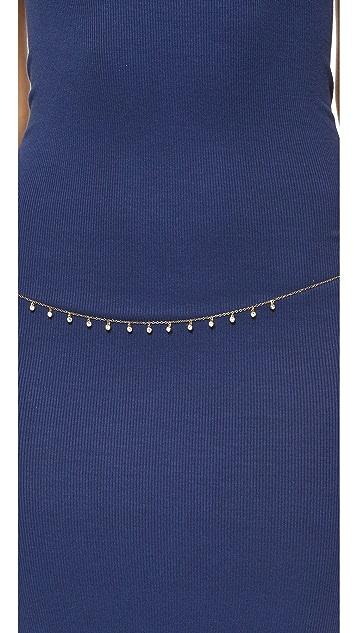 Rebecca Minkoff Multi Crystal Strand Belly Chain