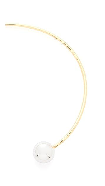 Rebecca Minkoff Two Tone Bead Collar Necklace