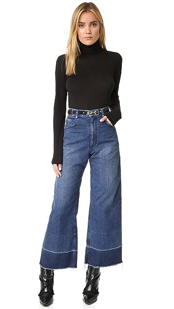Rebecca Minkoff Flat Strap Belt with Dog Leash Clip