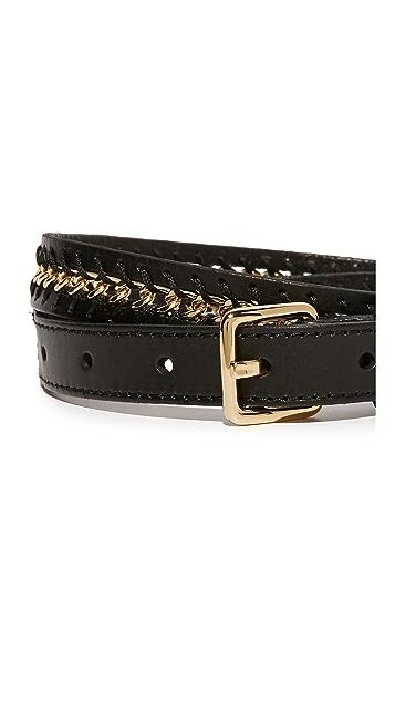 Rebecca Minkoff Flat Strap Belt with Chain