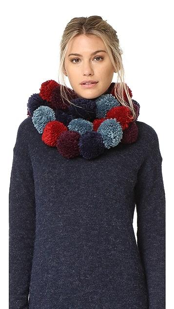 Rebecca Мinkoff Разноцветный шарф из помпонов