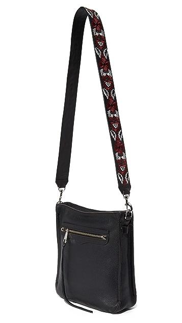 Rebecca Minkoff Embroidery Floral Handbag Guitar Strap
