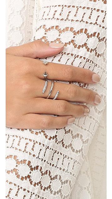 Rebecca Minkoff Pave Multi Row Ring