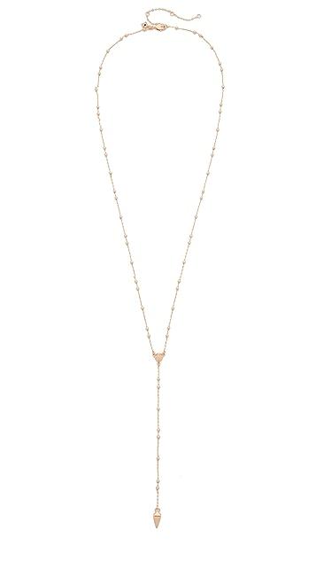 Rebecca Minkoff Beaded Y Necklace