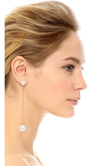 Rebecca Minkoff Long Imitation Pearl Drop Earrings