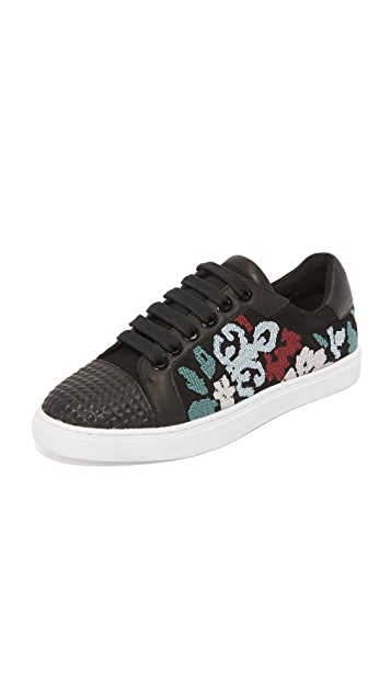 Rebecca Minkoff Blair Embroidered Sneakers