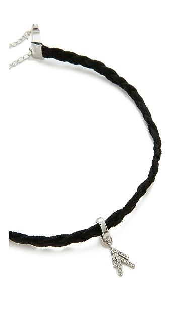 Rebecca Minkoff Pave Chevron Charm Choker Necklace