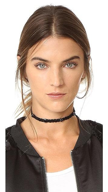 Rebecca Minkoff Multi Stone Charms Choker Necklace