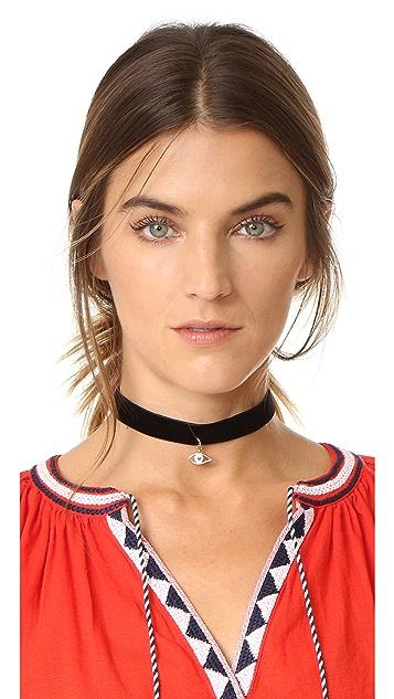 Rebecca Minkoff Evil Eye Choker Necklace