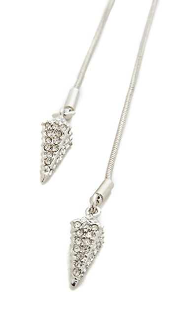 Rebecca Minkoff Spike Charm Lariat Necklace