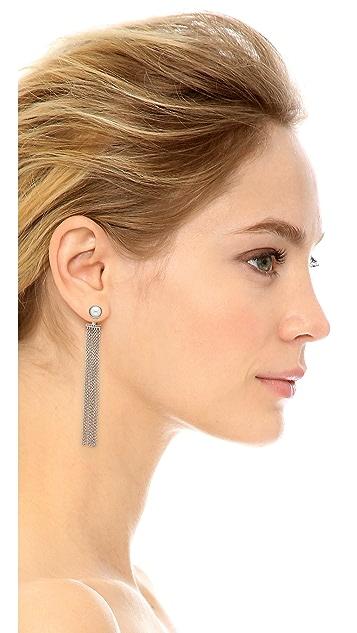 Rebecca Minkoff Fringe Front & Back Earrings