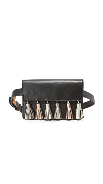 Rebecca Minkoff Metallic Tassel Belt Bag