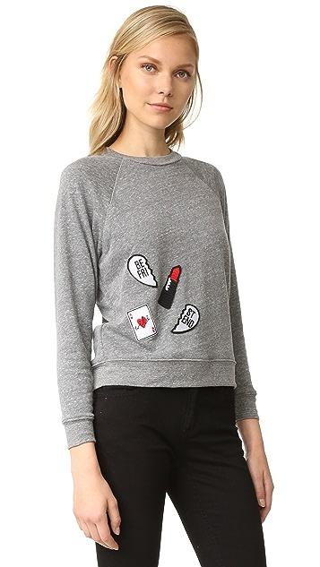 Rebecca Minkoff Multi Patch Sweatshirt
