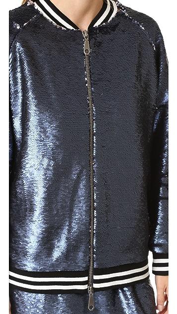 Rebecca Minkoff Tessa Sequin Bomber Jacket