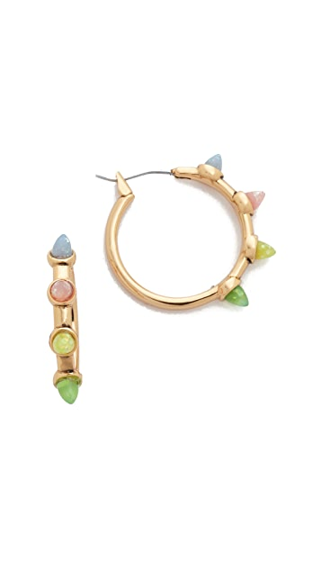 Rebecca Minkoff Rainbow Spear Hoop Earrings