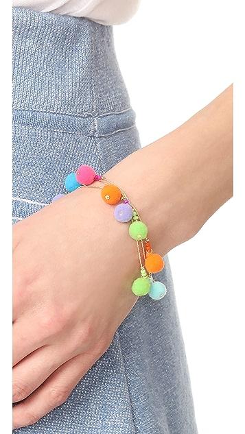 Rebecca Minkoff Savanna Pom Pom Bracelet