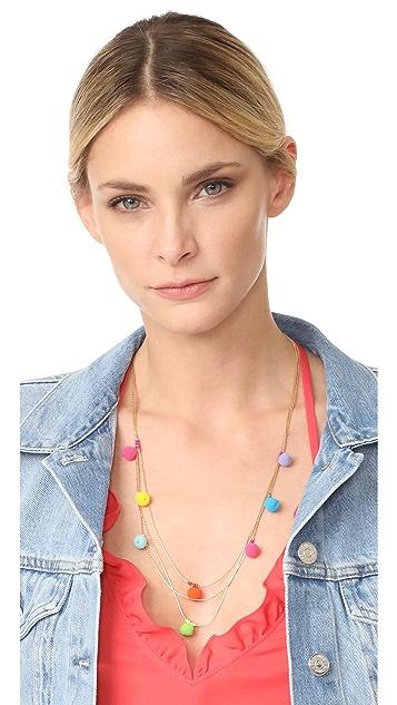 Rebecca Minkoff Savanna Pom Pom Necklace