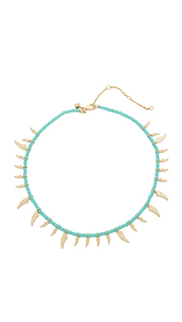 Rebecca Minkoff Tiki Beaded Spike Necklace