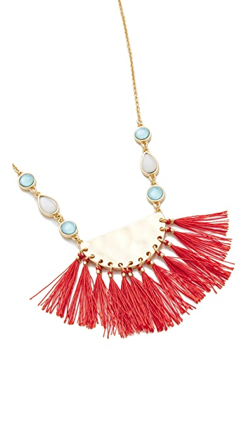Rebecca Minkoff Fanned Tassel Pendant Necklace