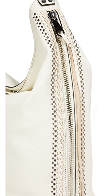Rebecca Minkoff Studded Bryn Double Zip Hobo