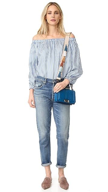 Rebecca Мinkoff Маленькая сумка через плечо Love с ремнем для гитары Sofia