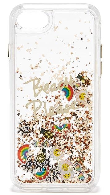 Rebecca Minkoff Beach Icon Glitterfall iPhone 7 Case