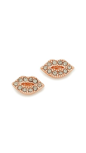 Rebecca Minkoff Lips Stud Earrings Shopbop