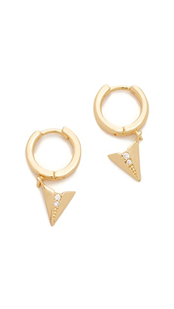 Rebecca Minkoff Paper Plane Huggie Earrings