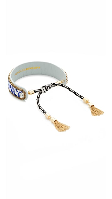 Rebecca Minkoff Good Vibes Only Friendship Bracelet