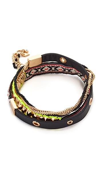 Rebecca Minkoff Mixed Media Wrap Bracelet
