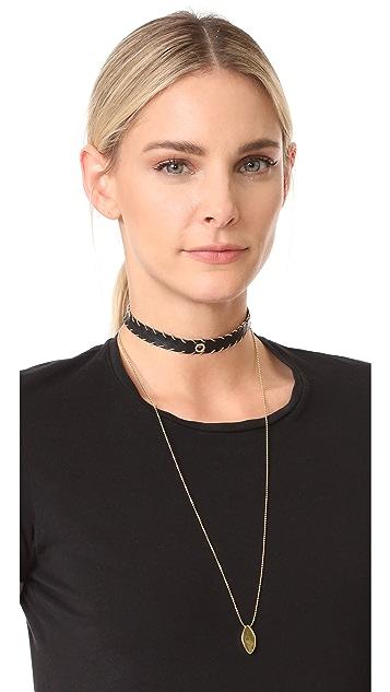 Rebecca Minkoff Leather Layered Choker Necklace