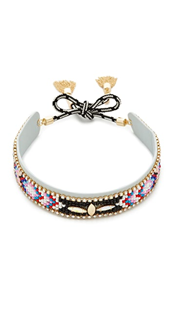 Rebecca Minkoff Sparkler Seed Bead Choker Necklace