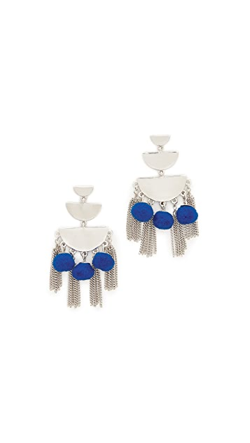 Rebecca Minkoff Triple Tier Chandelier Earrings
