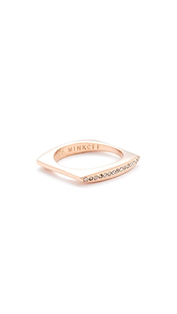Pave Square Stacking Ring